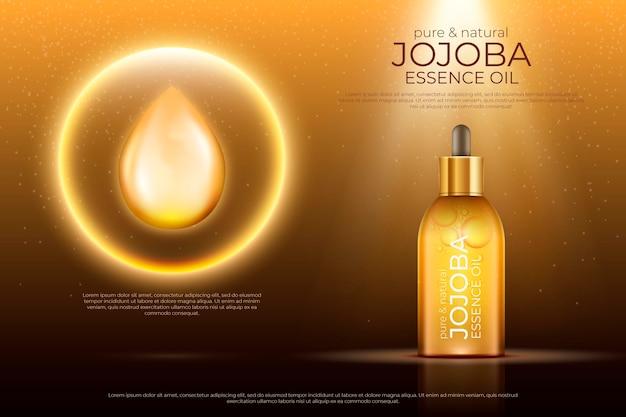Realistyczna reklama olejku jojoba