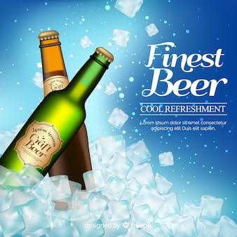 Realistyczna reklama piwa