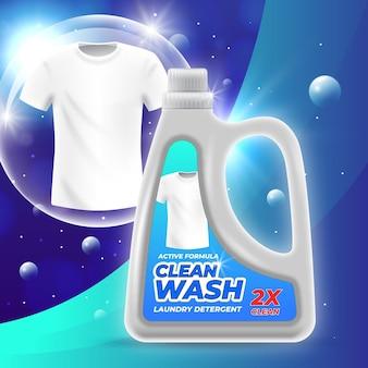 Realistyczna reklama produktu czyszczącego