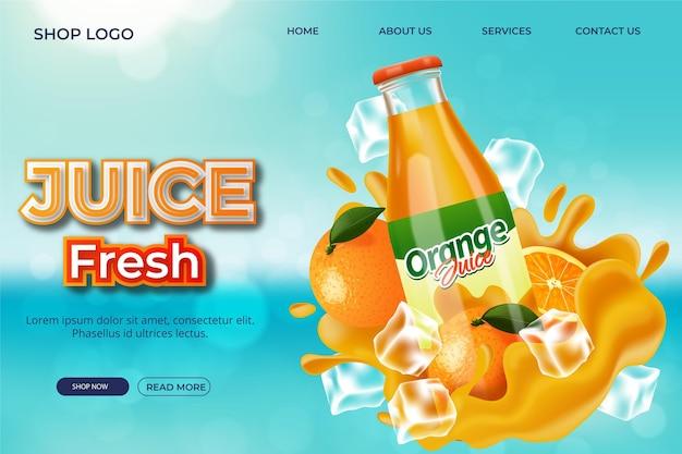 Realistyczna reklama ze stroną docelową produktu