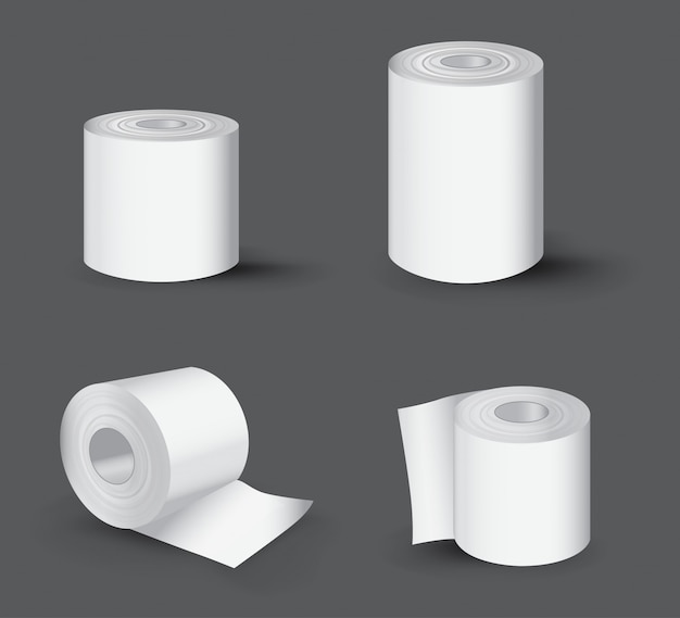 Realistyczna rolka papieru toaletowego