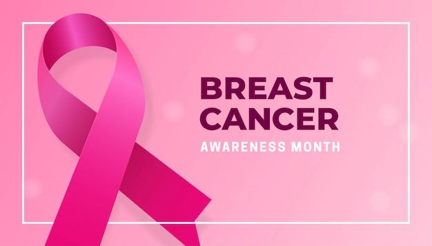 Realistyczna różowa wstążka na miesiąc świadomości raka piersi