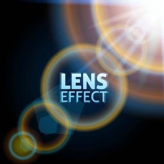 Realistyczna skolimowana wiązka światła. efekt rozbłysku słonecznego. jasne oświetlenie.