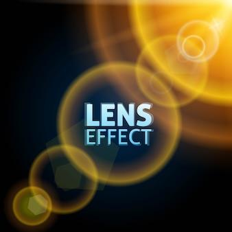 Realistyczna skolimowana wiązka światła. efekt rozbłysku słonecznego. jasne żółte, pomarańczowe, ciepłe oświetlenie.