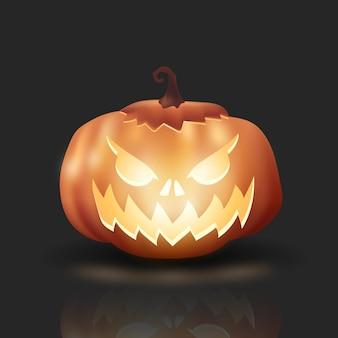 Realistyczna śliczna dynia halloween