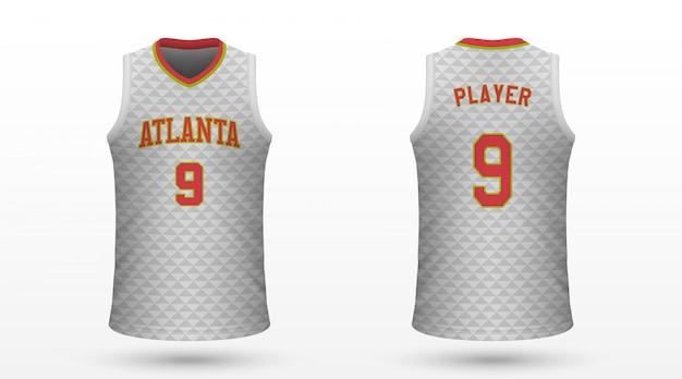 Realistyczna Sportowa Koszula Premium Wektorów