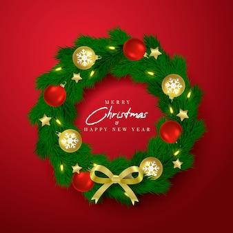 Realistyczna świąteczna dekoracja