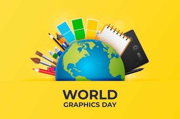 Realistyczna światowa grafika dnia ilustracji