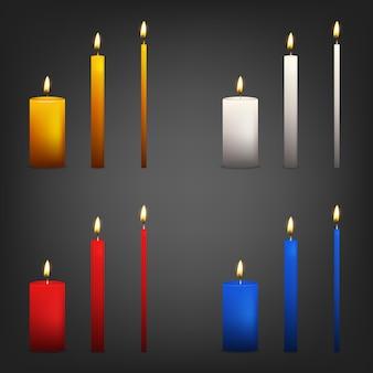 Realistyczna świeca na ciemnym tle