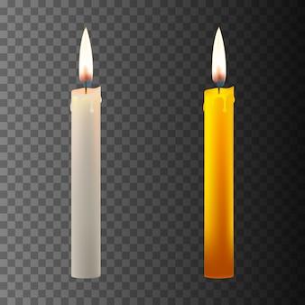 Realistyczna świeca w ciemności