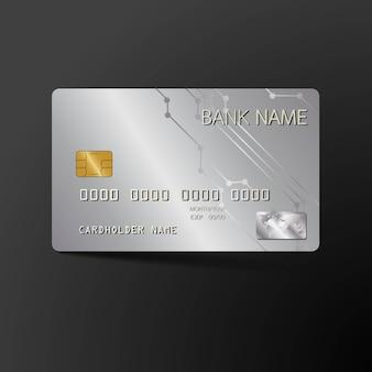 Realistyczna szczegółowa karta kredytowa.
