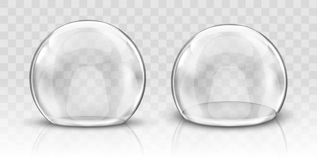Realistyczna szklana kopuła lub kula