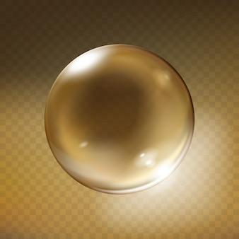 Realistyczna szklana kula. błyszczący pusty kryształowy glob, bańka, perła z odbicia