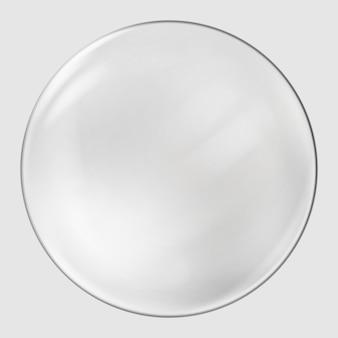 Realistyczna szklana kula. przezroczysta piłka, realistyczna bańka
