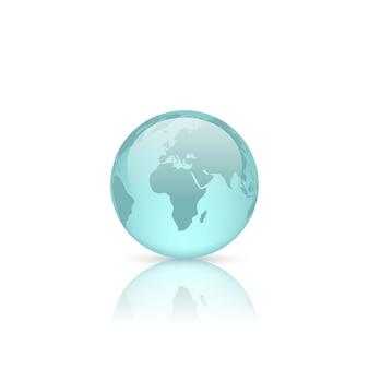 Realistyczna szklana kula ziemska