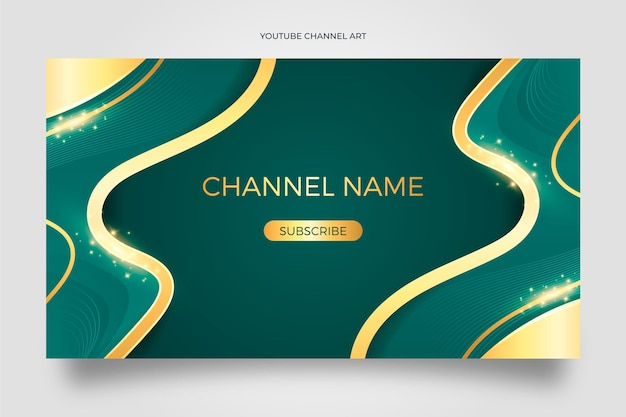 Realistyczna sztuka złotego luksusowego kanału youtube