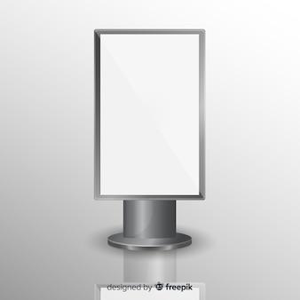 Realistyczna tablica reklamowa