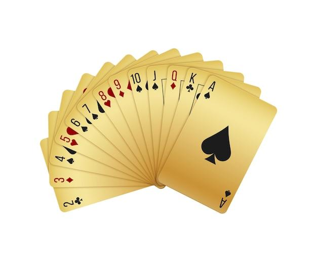 Realistyczna talia kart do gry z asem pik