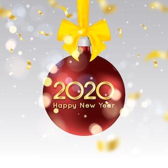Realistyczna tapeta nowego roku 2020