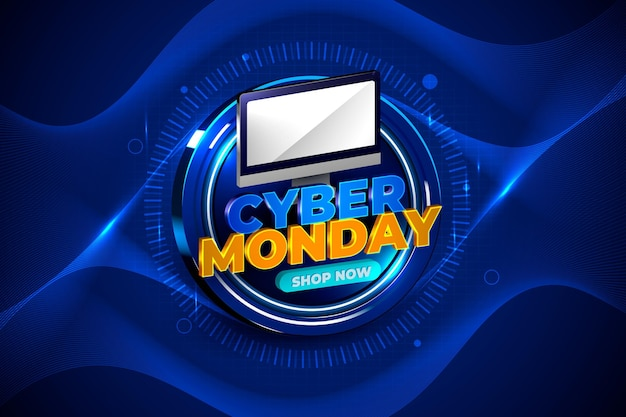 Realistyczna technologia cyber poniedziałek w tle