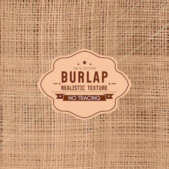 Realistyczna tekstura burlap