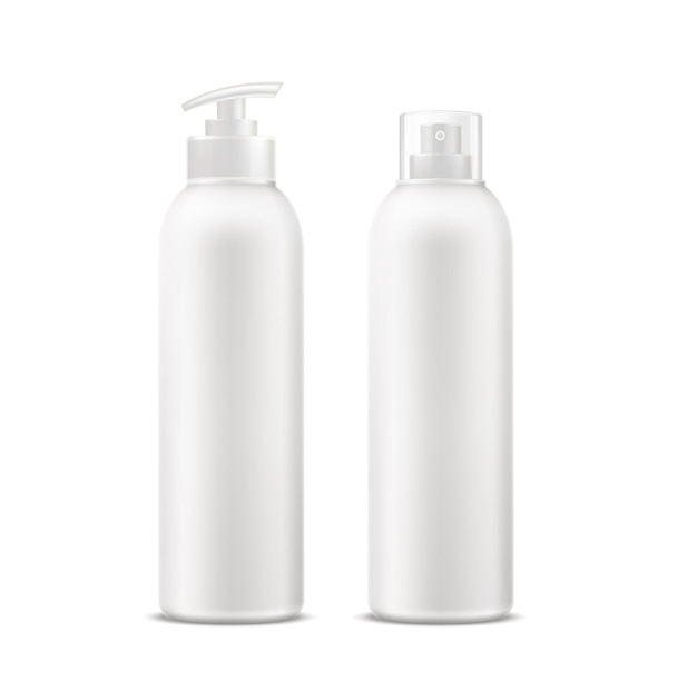 Realistyczna tubka kremu spa, butelka dezodorantu z zestawem dozownika.