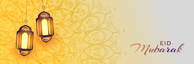 Realistyczna wisząca eid festiwalu islamska lampa