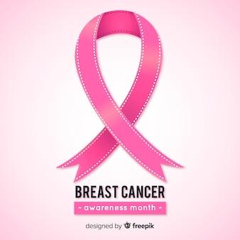 Realistyczna wstążka do świadomości raka piersi