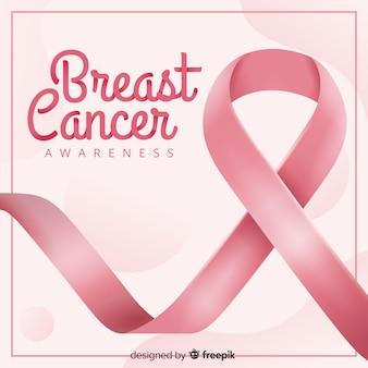 Realistyczna wstążka świadomości raka piersi