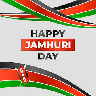 Realistyczna wstążka wydarzenia jamhuri day