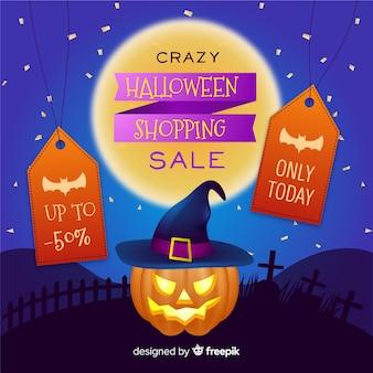Realistyczna wyprzedaż dyni halloween