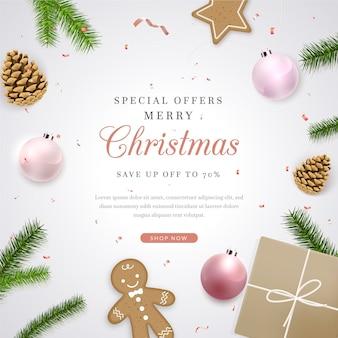 Realistyczna wyprzedaż świąteczna