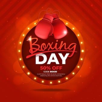 Realistyczna wyprzedaż w dniu boksu