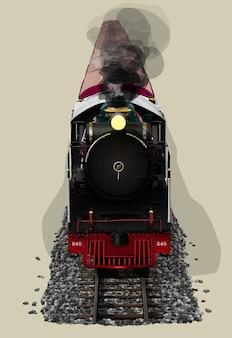 Realistyczna zabytkowa lokomotywa parowa