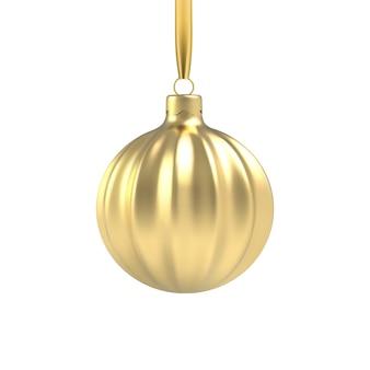 Realistyczna złota choinka zabawka w kształcie spirali.