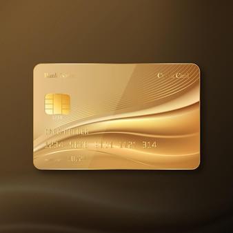 Realistyczna złota karta kredytowa