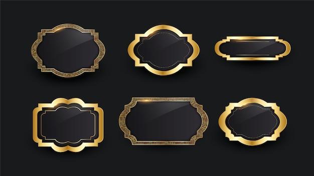 Realistyczna złota luksusowa rama