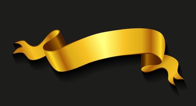 Realistyczna złota wstążka