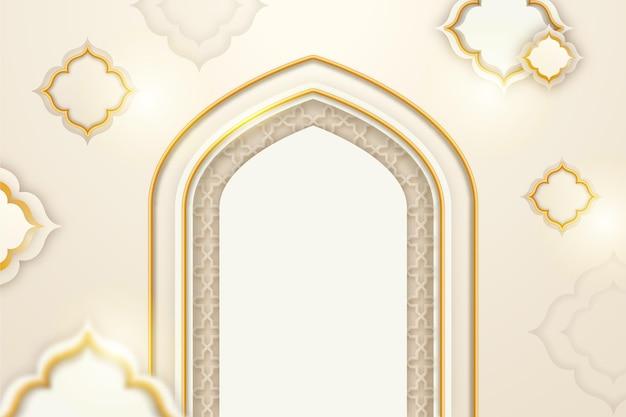 Realistyczne 3d arabskie ozdobne tło