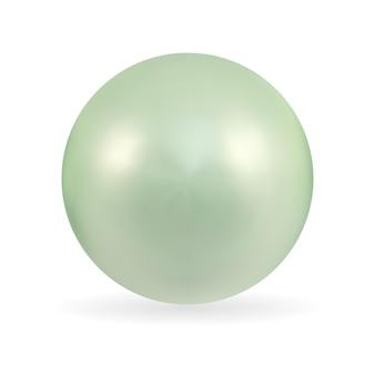 Realistyczne 3d pearl na białym tle