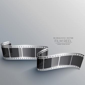 Realistyczne 3d taśmy filmowej