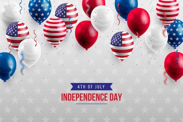 Realistyczne 4 lipca dzień niepodległości balony tło