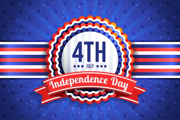 Realistyczne 4 lipca - ilustracja dzień niepodległości