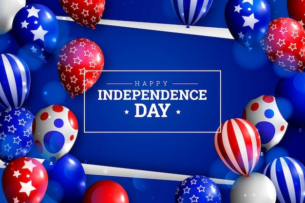 Realistyczne 4 lipca - tło balony dzień niepodległości