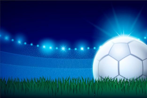 Realistyczne abstrakcyjne tło piłki nożnej