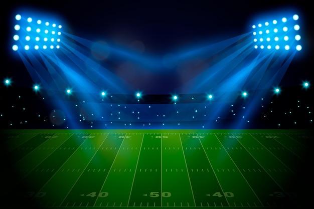 Realistyczne amerykańskie boisko do piłki nożnej