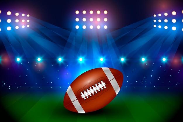 Realistyczne Amerykańskie Boisko Do Piłki Nożnej Darmowych Wektorów