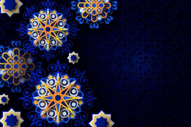 Realistyczne arabskie ozdobne tło 3d