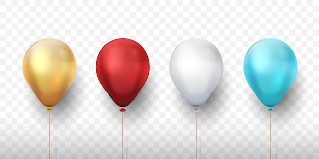 Realistyczne balony na przezroczystym tle