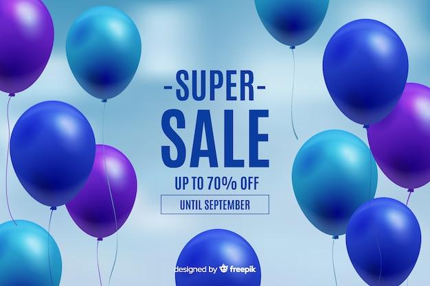 Realistyczne balony pływające tło sprzedaży